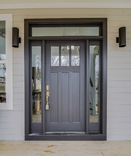 Image result for Black craftsman front door with sidelights & Front Entry Doors with Side Lights | Exterior Doors: Side Light ... pezcame.com