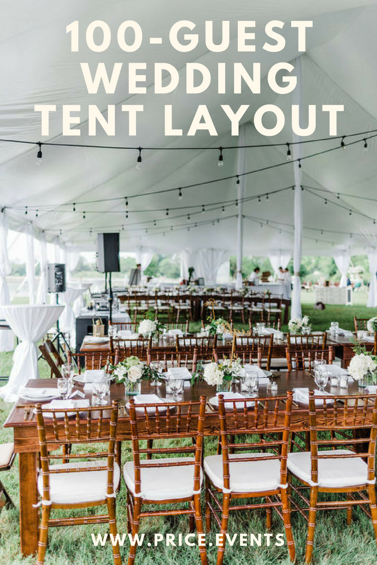 100Guest Wedding Tent Layout with Served Dinner Wedding