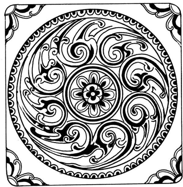 free mosaic coloring pages of mystical pattern gianfredanet - Mosaic Coloring Pages