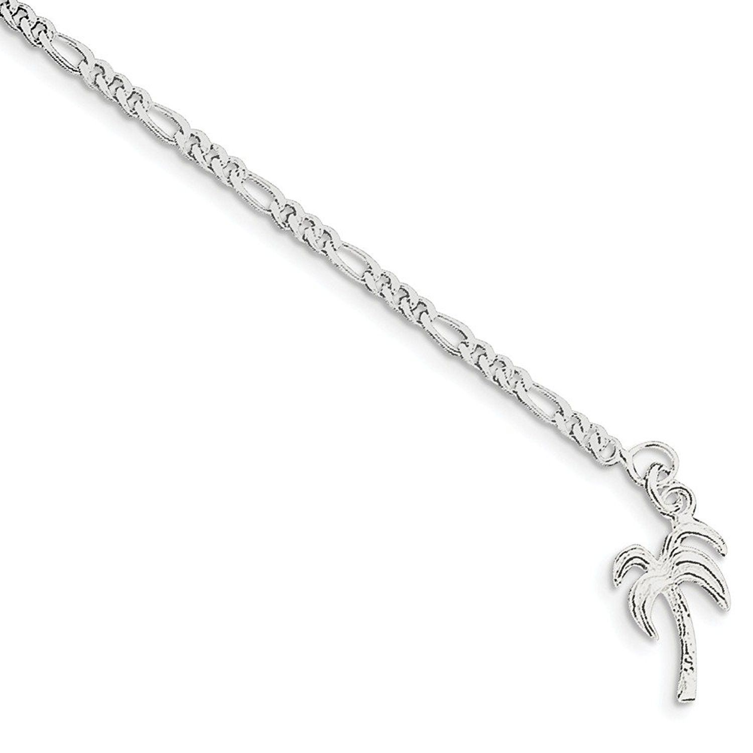 Sterling Silver Palm Tree Anklet Cm115gogleb Home Anklets Designerjewelry Fashionwomen Footeroutfit