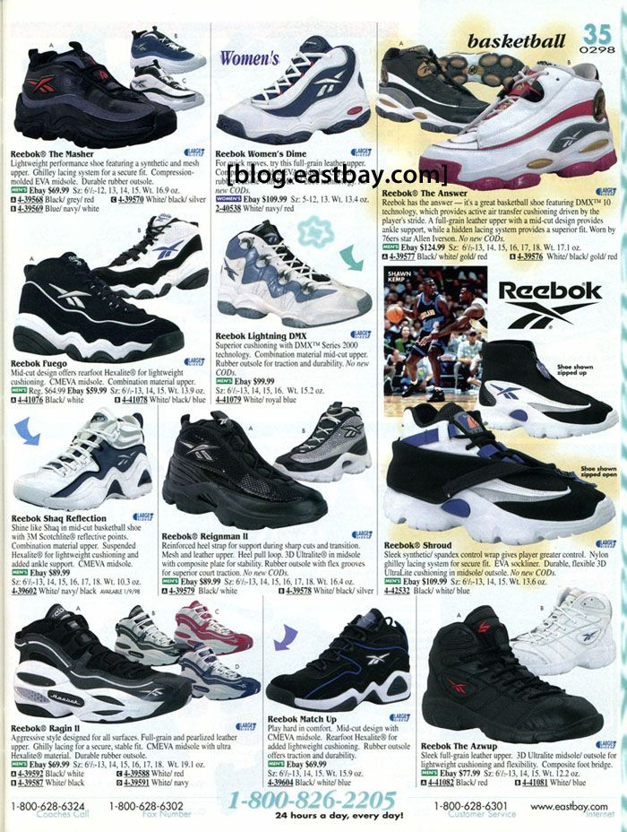 Reebok basketball featuring the answer eastbay also rh pinterest