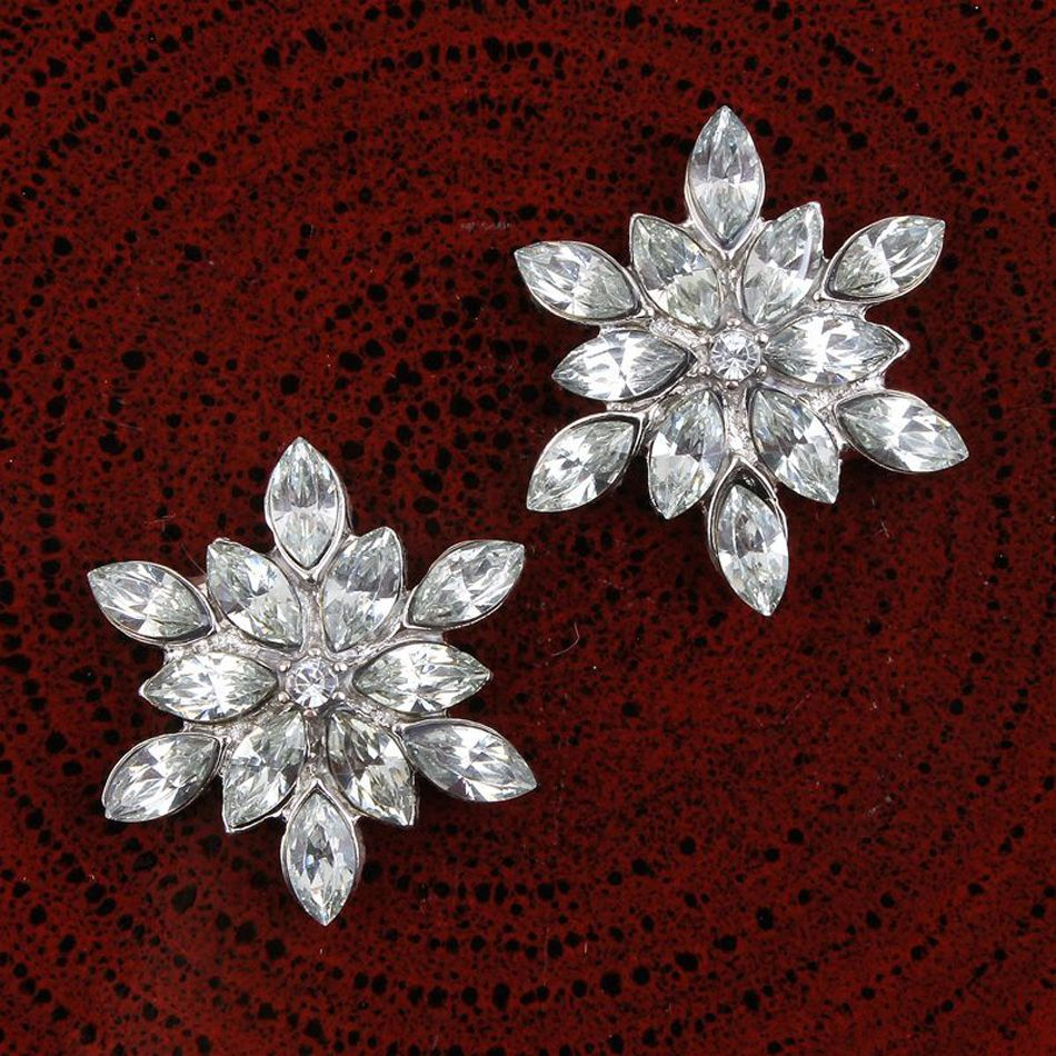 10 Charms Metal Pearl Flower Rhinestone Flatback Embellishment Craft DIY Wedding