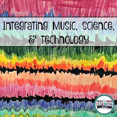 How to integrate music, science & technology by creating theme songs, coloring sound waves, and adding QR codes.  Great cross-curricular project!
