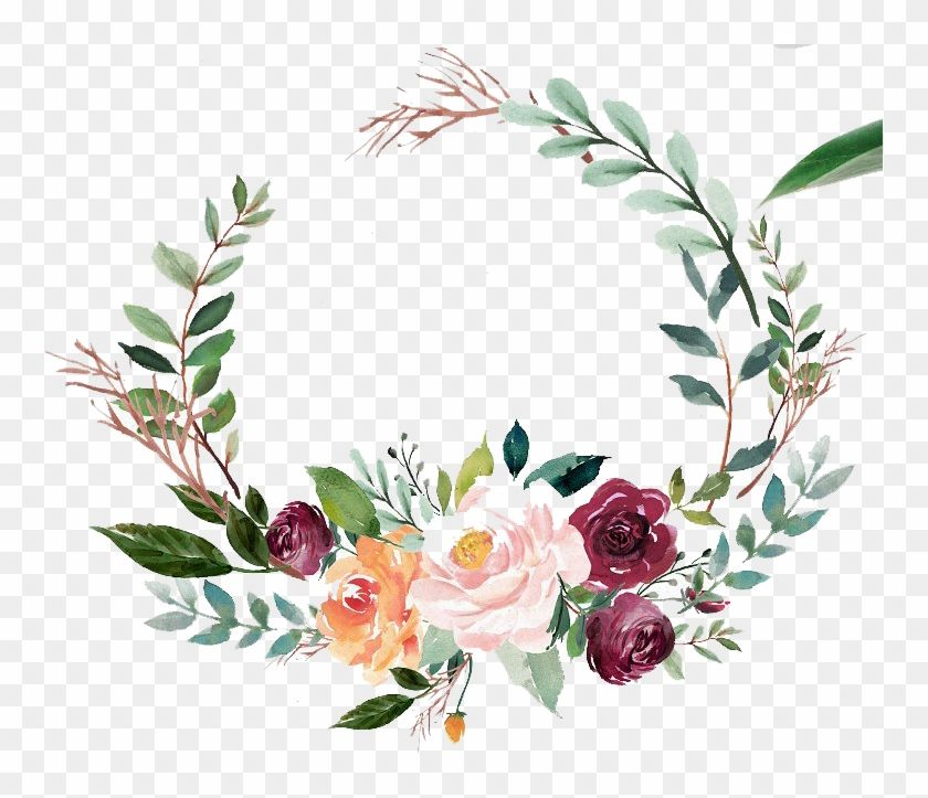 Find Hd Green Watercolor Wreath With Flowers Green Watercolor Flowers Png Transparent Png In 2021 Floral Wreath Watercolor Floral Wreath Graphic Wreath Watercolor