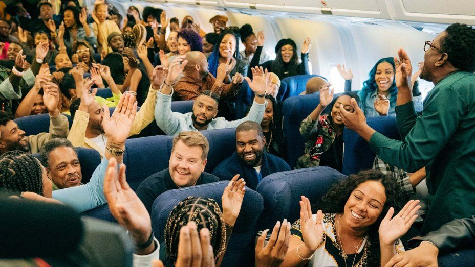 Kanye West Sunday Service Choir Take Part In Airplane Carpool Karaoke Carpool Karaoke Karaoke The Late Late Show