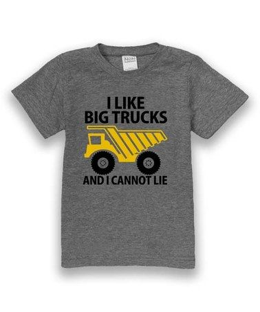 f2cd7bd03 Loving this Pewter 'I Like Big Trucks' Tee - Kids & Tween on #zulily!  #zulilyfinds