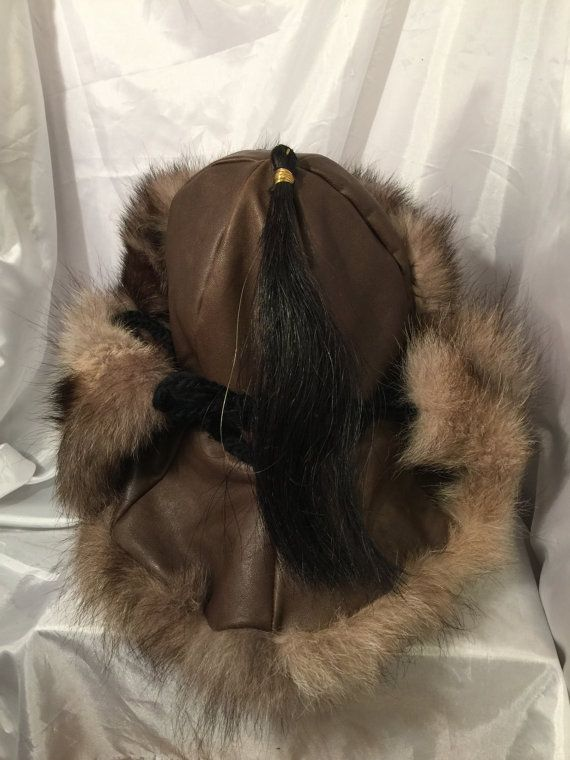 03c459d8f88fd Mongolian Russian Norse Black timber wolf fur hat by Micheleshats