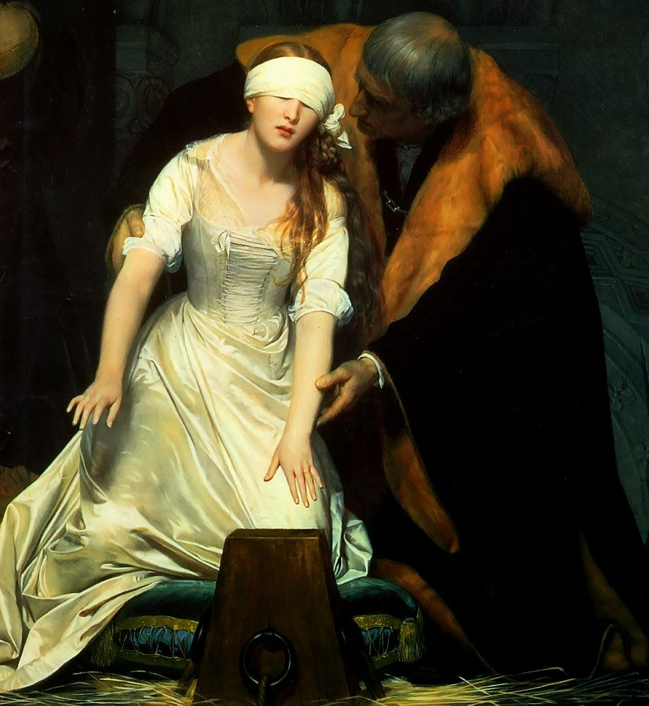 Paul DELAROCHE The Execution of Lady Jane Grey (DETAIL)