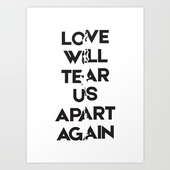 "Joy Division ""Love With Tear Us Apart Again"