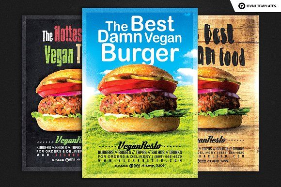 In Vegan Food Flyer Template Creativework  Templates