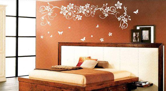 Flower Butterfly Tree Wall Art / Wall Stickers / by stickerlove2