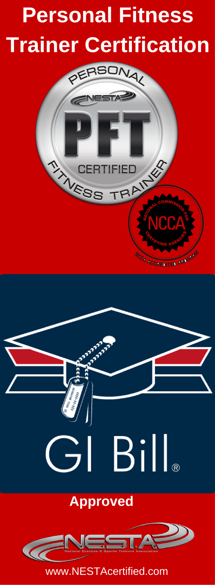 Personal trainer certification gi bill personal trainer and personal fitness trainer certification a gi bill approved online fitness education provider nesta and xflitez Choice Image