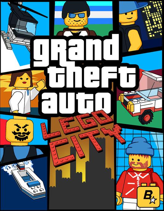 Play Tuşu On Geekery Grand Theft Auto Lego Police Gta