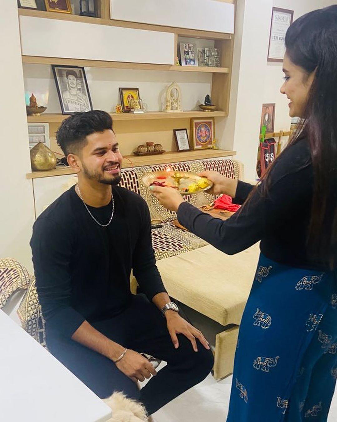 "Shreyas Iyer shared a photo on Instagram ""Happy"