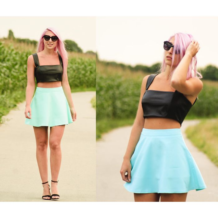 bordeaux rode skater skirt