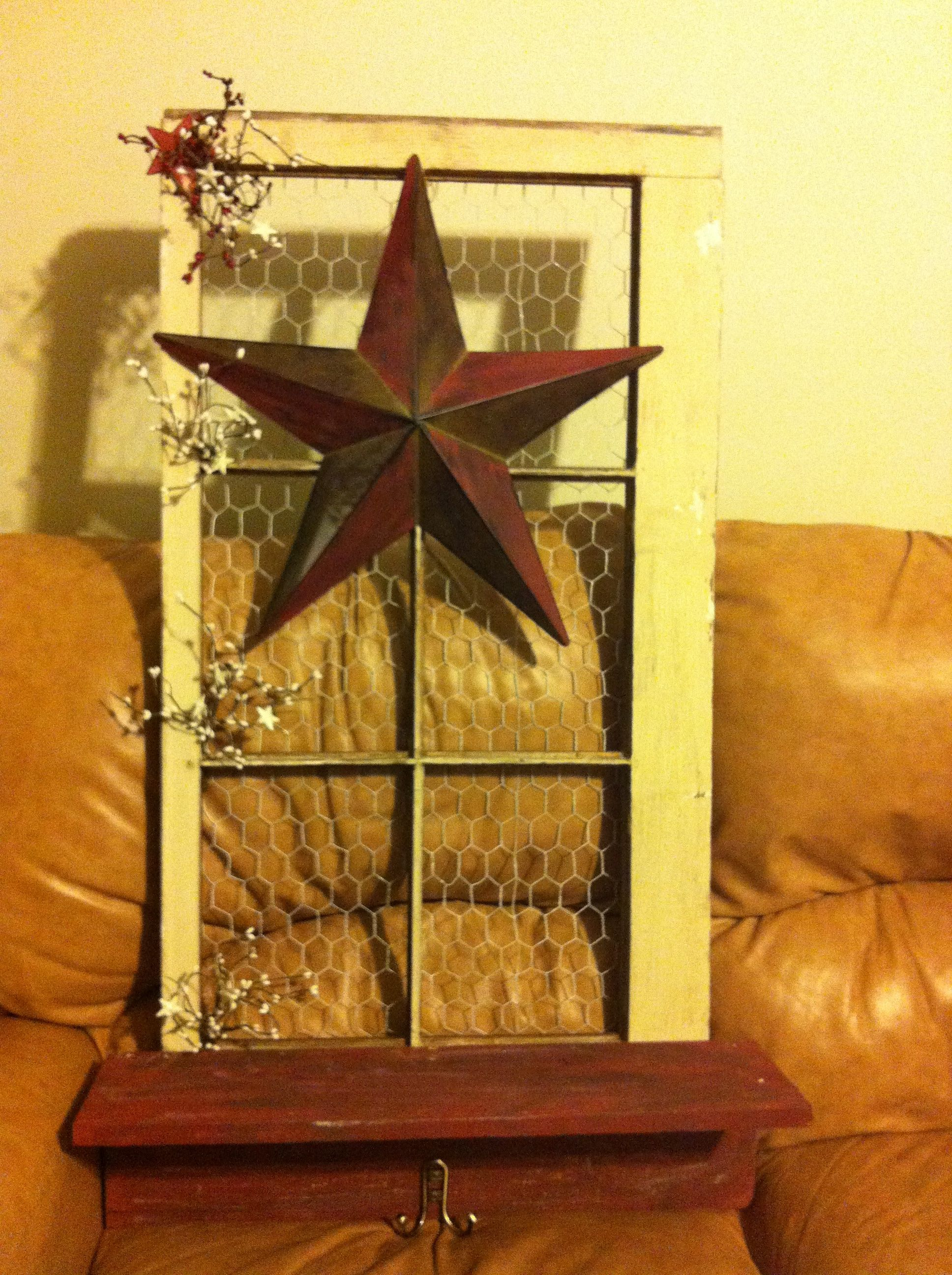 I made this out of an old window frame and decor I ha on hand! | I ...