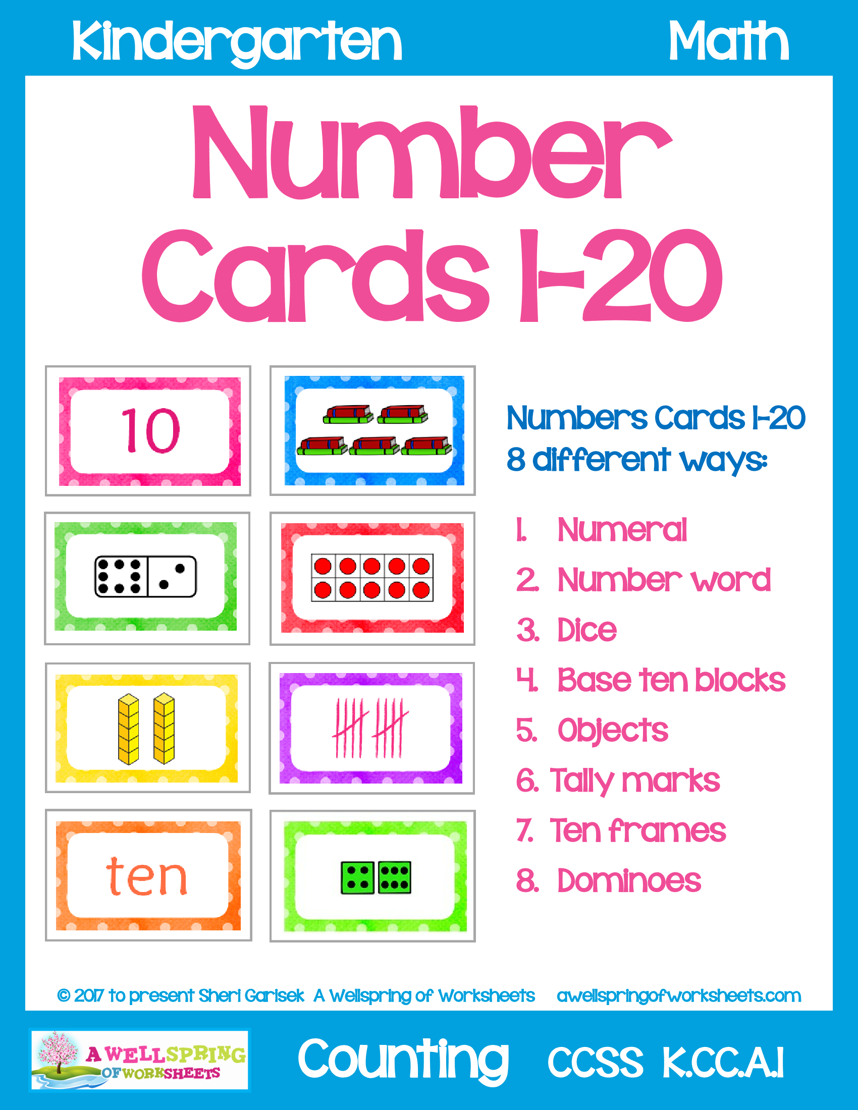 Number Cards 1 20