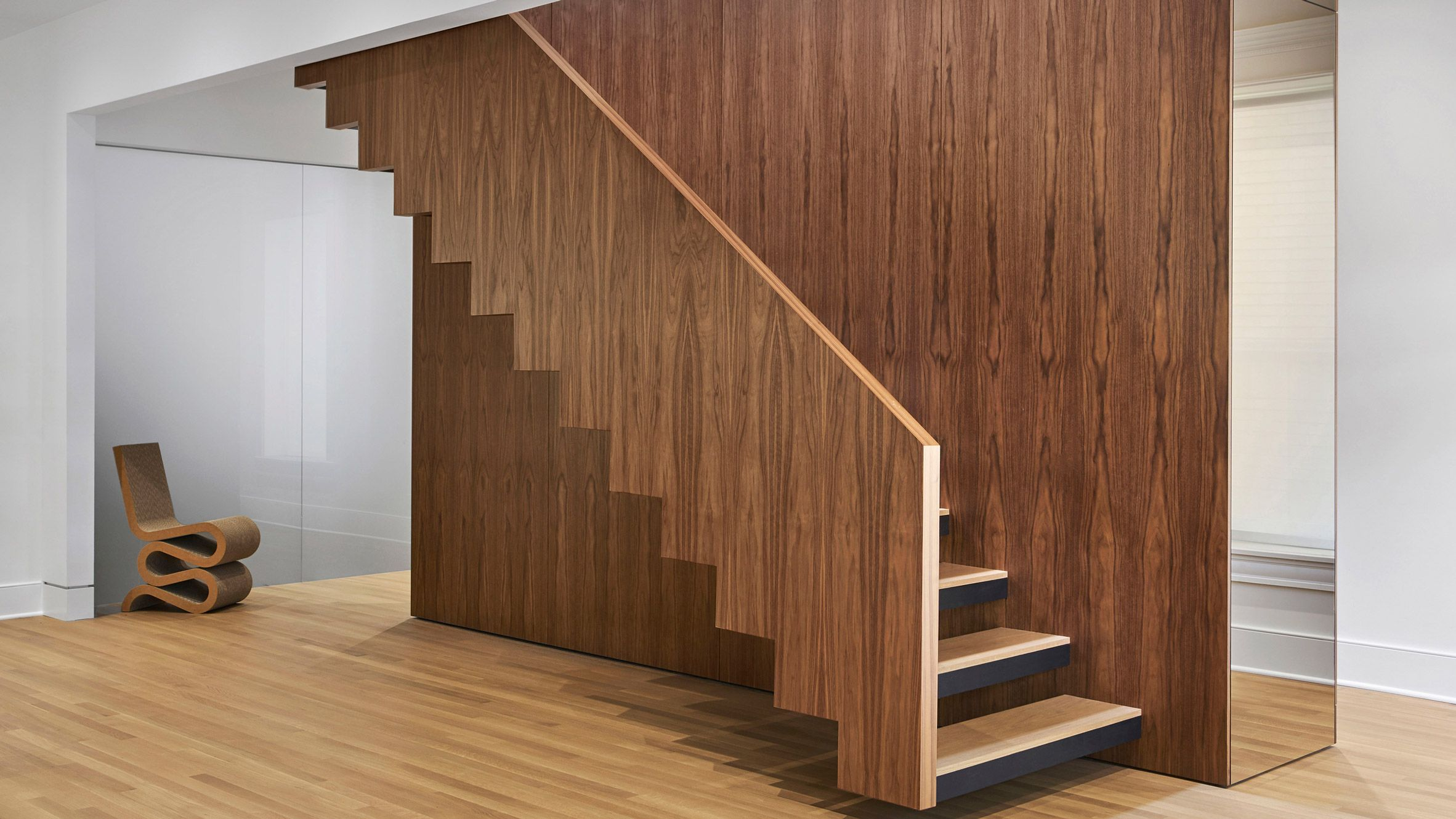 Vladimir Radutny Architects Has Transformed A Dilapidated Building In Chicago With A Walnut Staircase To C Home Stairs Design Tiny House Loft Tiny House Stairs