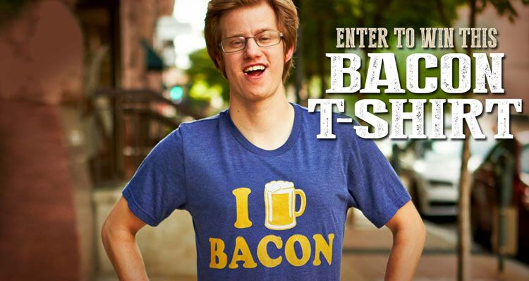 Free Bacon T-Shirt Giveaway