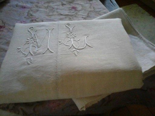 Antico lenzuolo di lino