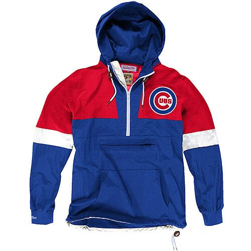 Chicago Cubs Half Zip Windbreaker by Mitchell & Ness  - MLB.com Shop