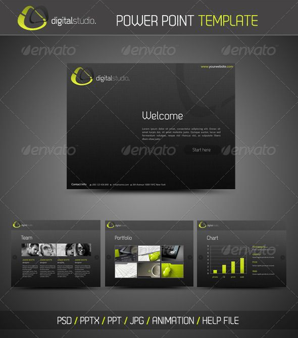 Digital Studio Powerpoint Presentation  Power Point Templates