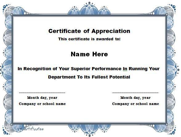 Certificate Of Appreciation 15 Certificate Of Appreciation Certificate Of Appreciation Templates Certificate Of Achievement