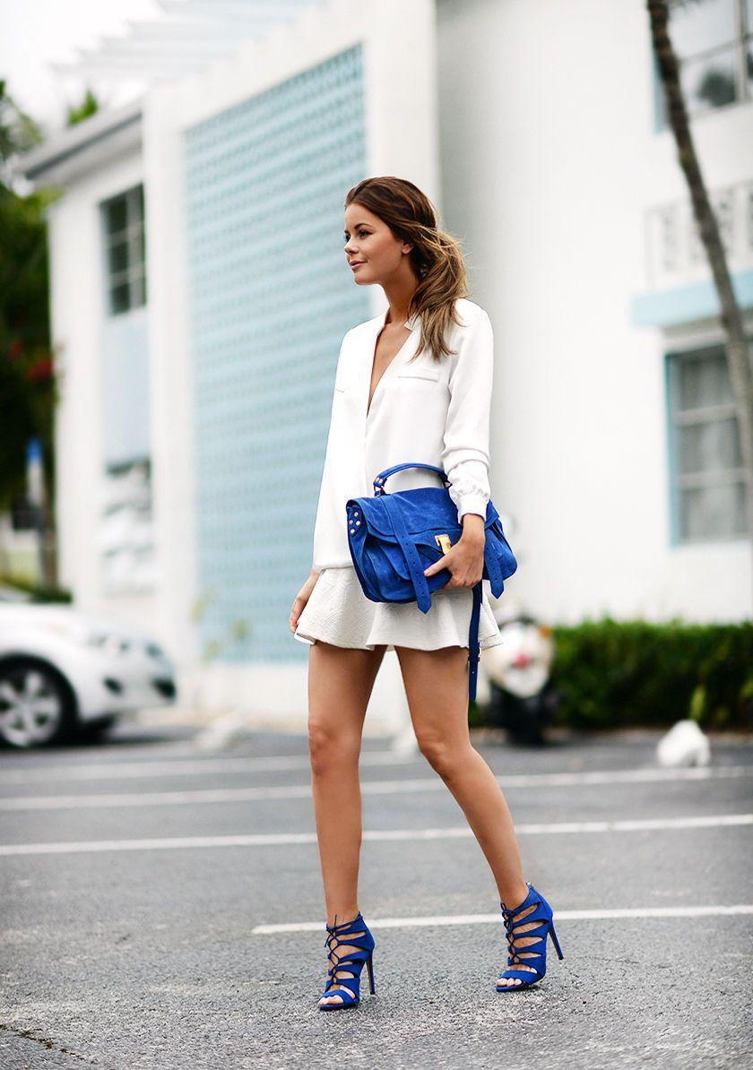 Shirt: Finders Keepers Bag: Proenza Schouler Skirt: Chicy Shoes: Steve Madden Her er en look fra...