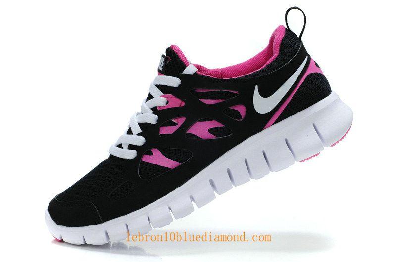 Womens Nike Free Run 2 Black Pink White 477701 001