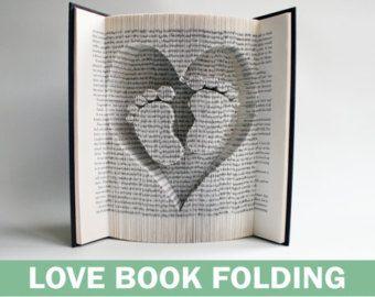 Herz Buch Falten Muster Schnitte: Plus von LoveBookFolding auf Etsy                                                                                                                                                     Mehr