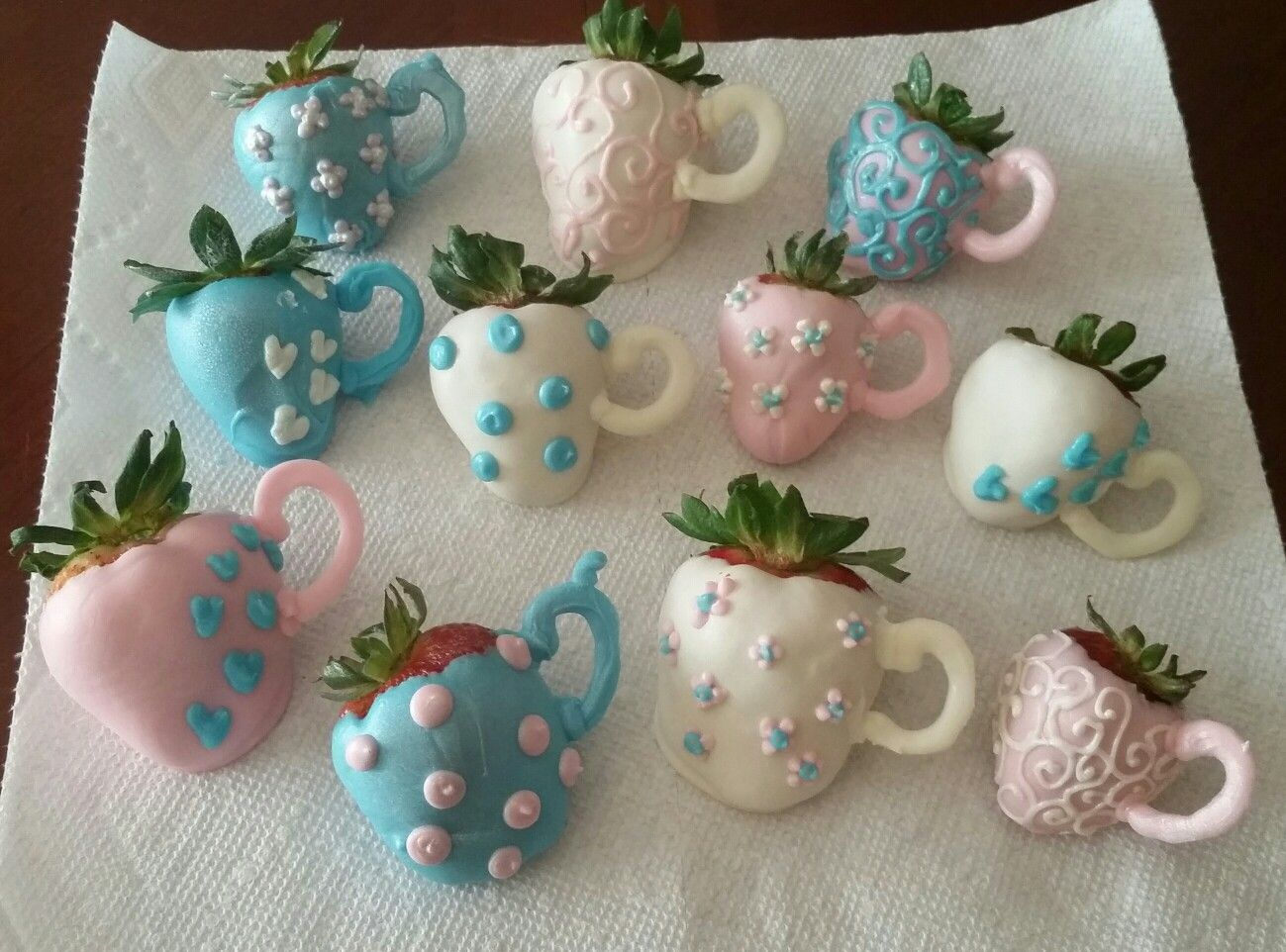 Teacup Strawberries Tea Time Desserts Made By Seveneves