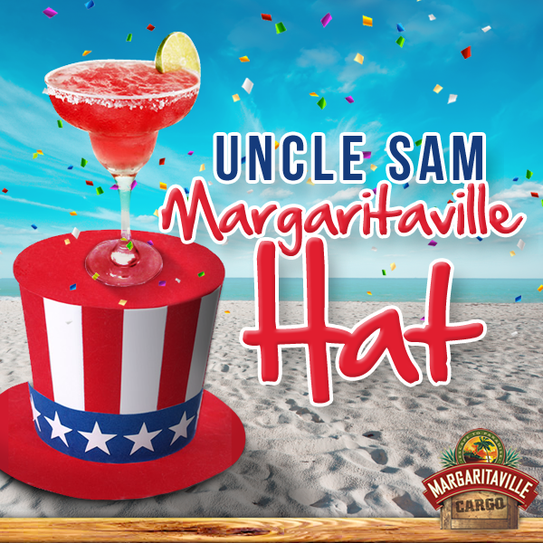 Can you build a hat that'll hold your margarita? Play the Uncle Sam Margaritaville Hat game and see who comes out on top! #fourthofjuly #unclesam