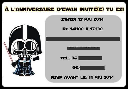 anniversaire star wars star wars birthday la fe pique - Carte Anniversaire Star Wars Imprimer