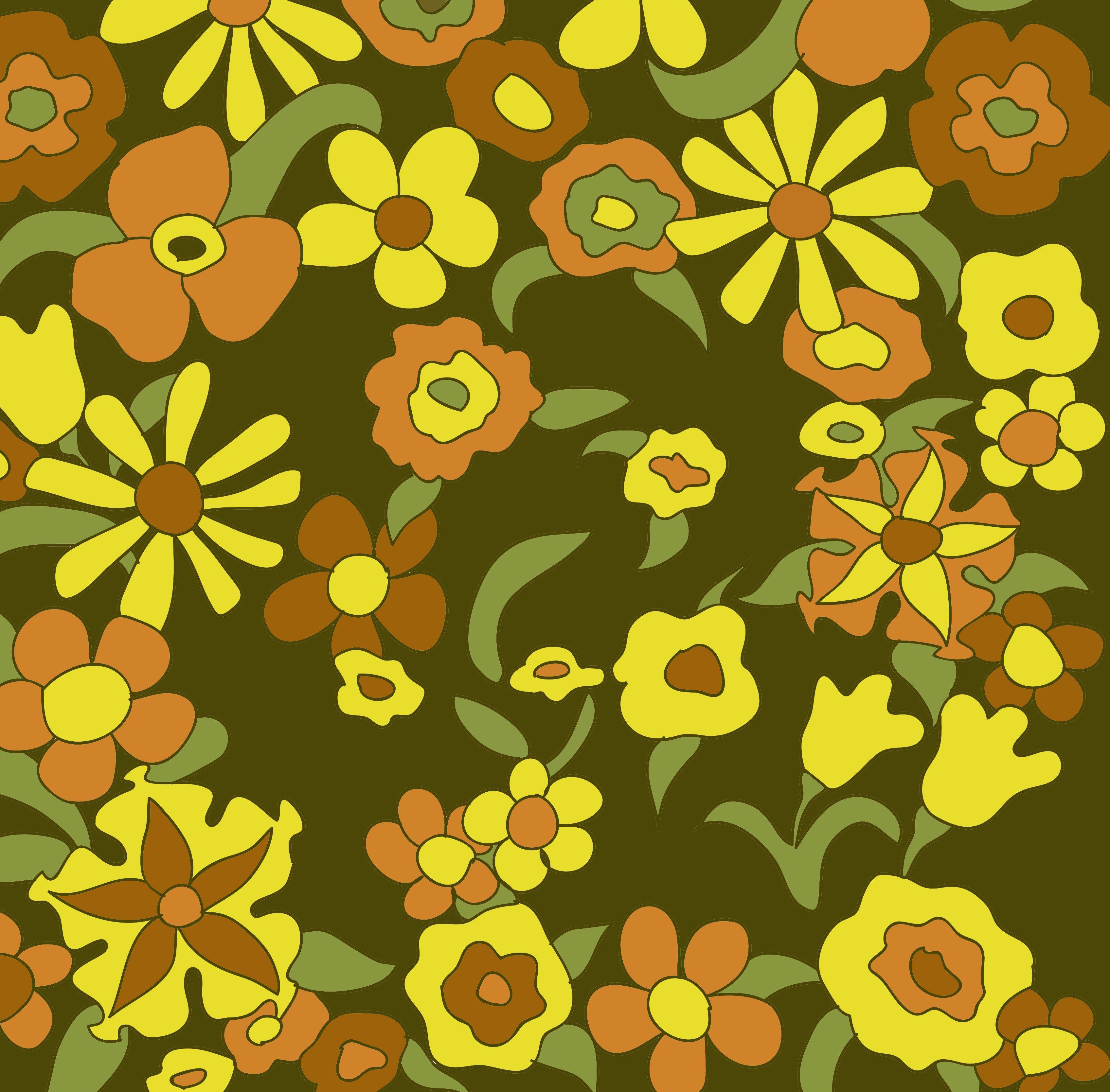 70's Floral Pattern Vintage fabrics, Floral pattern, Pattern