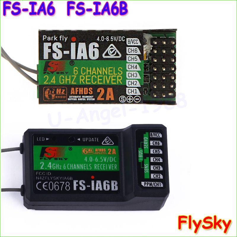 FLYSKY iA6B FS-iA6B 2.4G 6CH AFHDS Receiver For FLYSKY FS-i10 i6 RC Transmitter