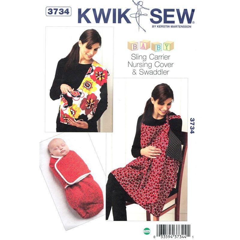 Baby Pattern Kwik Sew 3734 Swaddler Baby Wrap Sling Carrier Nursing