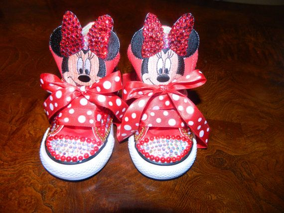 Minnie Mouse Bling Converse and Matching B day by DRBlingNThings ... 6372e653c3e