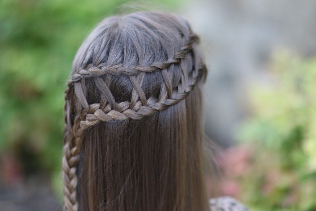 5 Minute Hairstyles Braids: Lattice Braid Combo From Cute Girls Hairstyles