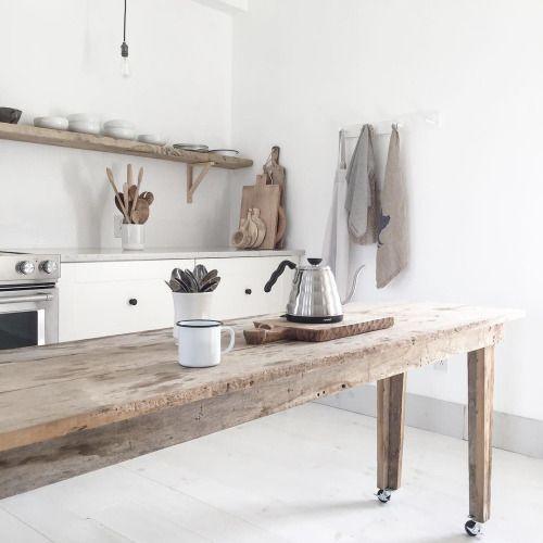Id e en cuisine cuisine rustique chic cuisines maison - Refaire sa cuisine rustique en moderne ...