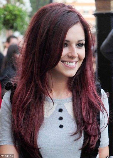 Mahogany Red Hair Mohawk Haircut Color