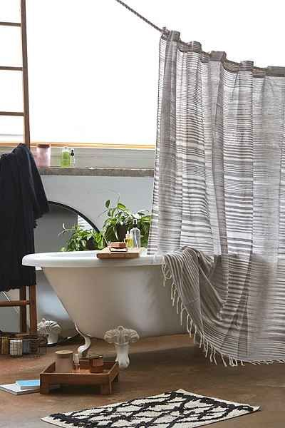 4040 Locust Wyatt Space Dyed Shower Curtain Spaces Bath and