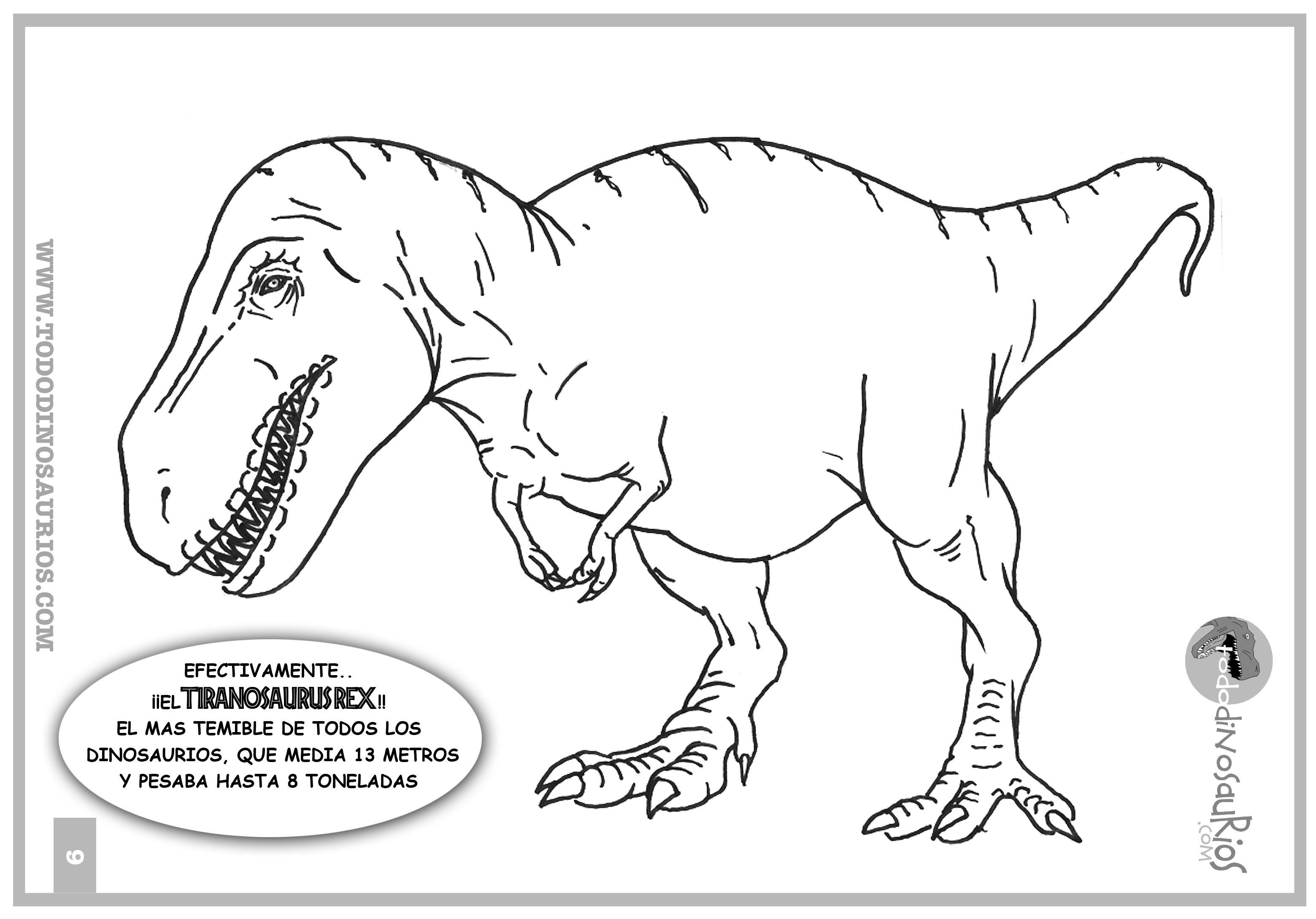 Dibujos De Dinosaurios Para Colorear El Tiranosaurio Rex Tiranosaurios Rex Dibujo De Dinosaurio Tiranosaurio