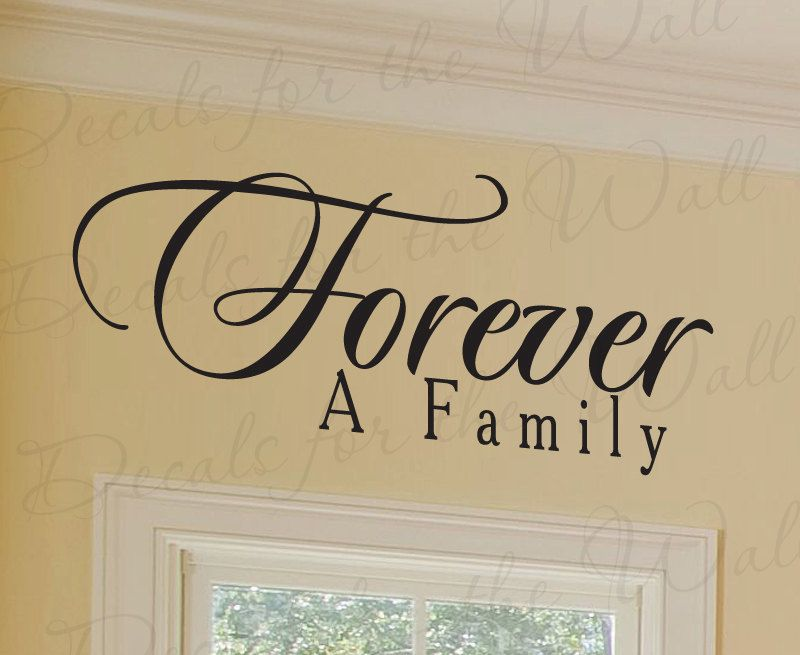 Forever a Family Love Home LDS Mormon Adhesive Vinyl Sticker Art ...