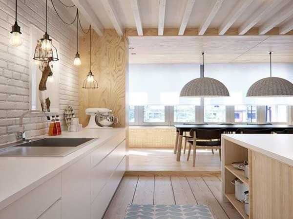 Cuisine Blanche Idées Déco Pour Sinspirer Déco Pinterest - Meuble de cuisine suspendu pour idees de deco de cuisine