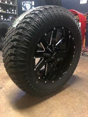 Dodge Ram 1500 Wheels And Tires Packages >> Advertisement Ebay 20x10 Ion 141 34 Xt Mt Black Wheel Tire