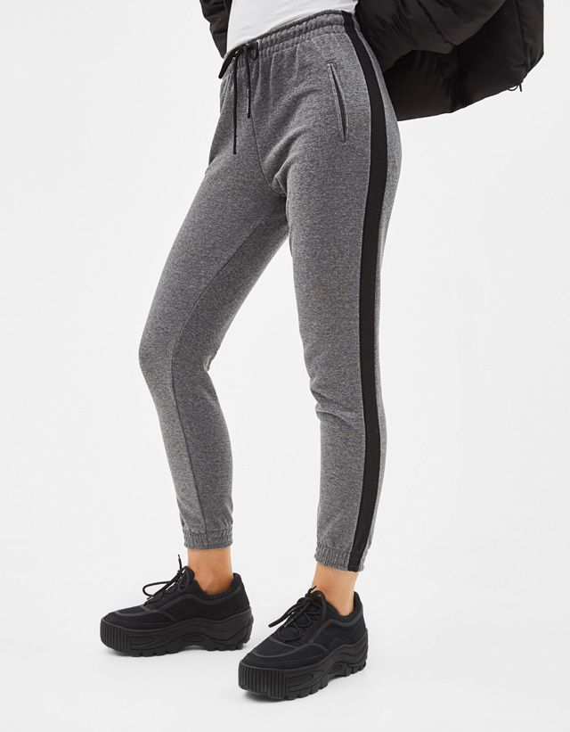 Pantalones De Mujer Primavera 2019 Bershka Chandal Mujer Pantalones De Chandal Pantalones Mujer