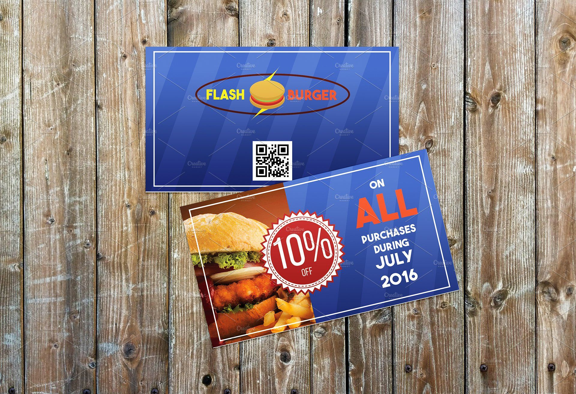 fast food restaurant coupon cards 3 coupon voucher styles