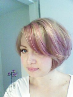 Short Blonde Hair With Pink Highlights Google Search Hair