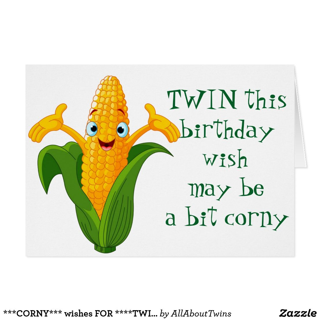 Corny Wish For Twins Birthday Card Cardsproducts By