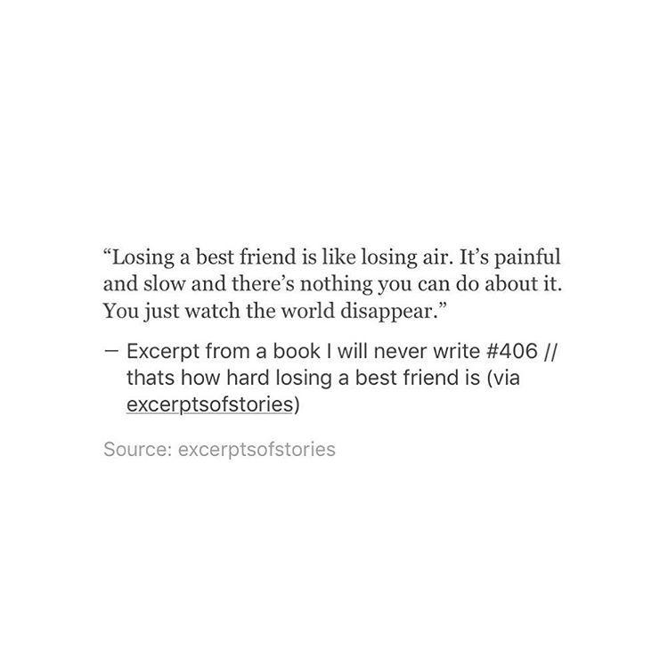 Losing A Friendship: Losing A Best Friend Is Like Losing Air